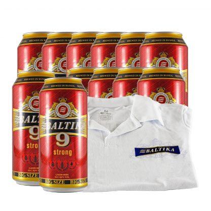 Baltika 9 pivo 0.9l 12 kom + poklon majica