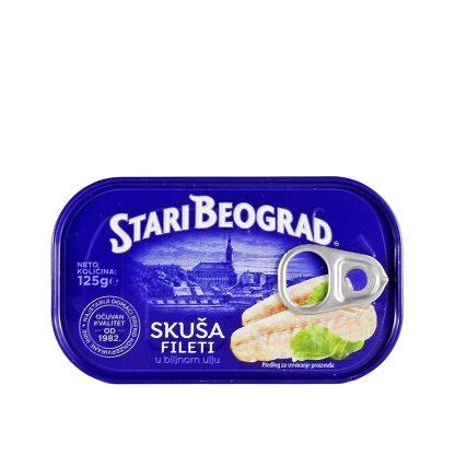 Skuša fileti Stari Beograd 125g