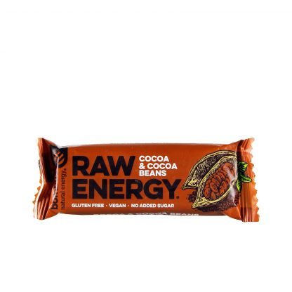 Raw energy bar kakao i kakao zrna 50g