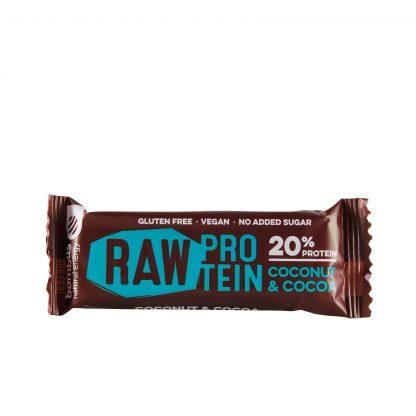 Raw protein bar kokos i kakao 50g