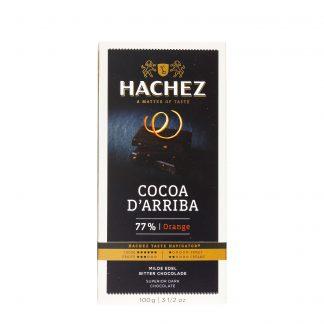 Hachez crna čokolada 77% Cocoa d'Arriba Orange 100g