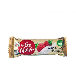Go Nutri musli bar jagoda beli krem 25g