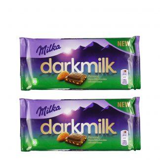 Milka čokolada Dark Milk badem 2 kom – NEDELJNA AKCIJA