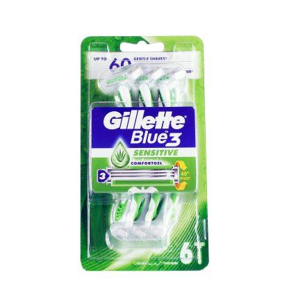 Gillette brijači Blue 3 Sensitive 6 kom