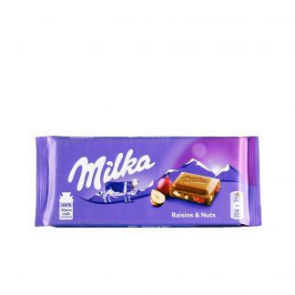 Milka čokolada grožđice i lešnik 100g