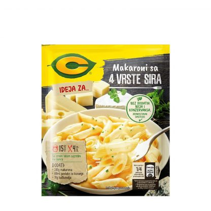 C Ideja za makarone sa 4 vrste sira 30g