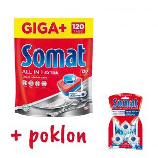 Somat tablete All-in-one Extra 120 kom poklon