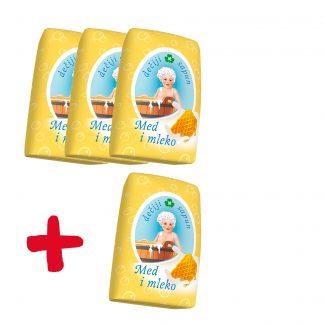 Merix dečiji sapun Med i mleko 3+1 gratis