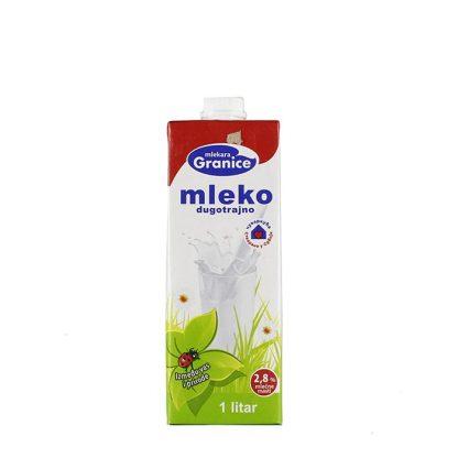 Granice dugotrajno mleko 2.8%mm 1l je zbog svoje kompletne biološke vrednosti nezamenljiva namirnica u ishrani i pripremi raznih poslastica u domaćinstvu.Masnoće 2.8%.