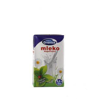 Granice dugotrajno mleko 3.2% 250ml odgovara pravim ljubiteljima mleka zbog praktičnog pakovanja i udela masnoće od 3.2%.