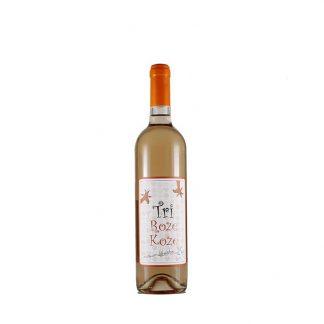 Tri Roze Koze vino 0.75l prijatan roze sa aromom hibiskusa, ružinih latica, jagoda, malina i lubenice. Osvežavajuće pitko vino koje ide uz širok spektar hrane.