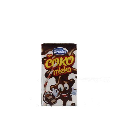 Granice čokoladno mleko 250ml je omiljeno među decom, poseduje specifičan ukus i miris zbog sadržaja čokolade u prahu. Može se koristiti u pripremi torta i kolača.
